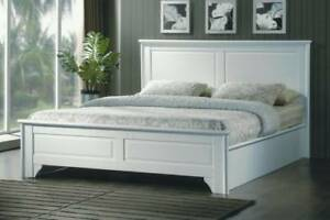 FREE DELIVERY QUEEN Size WHITE Jeanie Bed Frame – BRAND NEW