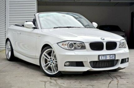 2010 BMW 123d E88 MY10 Steptronic White 6 Speed Sports Automatic Convertible
