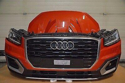 Car Part: Single unit set front end headlight radiator bumper Audi Q2 GA Front 2,0L TDI XLED 2017