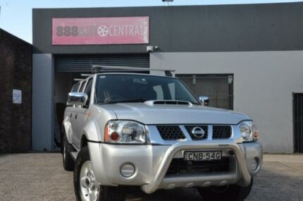 2013 Nissan Navara D22 ST R 2.5 CR Silver Manual Dual Cab Utility North Curl Curl Manly Area Preview