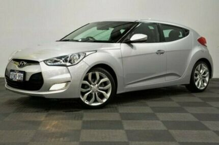 2012 Hyundai Veloster FS Coupe Silver 6 Speed Manual Hatchback