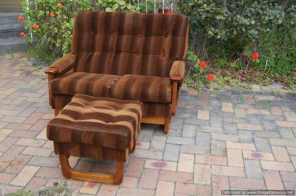 Amazing Mid Century 2 Seater Lounge Chair Couch Sofa Retro