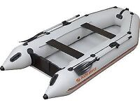 Inflatable Dinghy Boat Set With Oars and Pump
