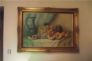 Karoly Paldeak Oil Painting on Canvas Still Life Fruit large