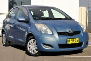 2008 Toyota Yaris NCP90R YR Blue 4 Speed Automatic Hatchback Gosford Gosford Area Preview