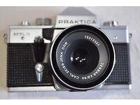 Vintage Praktica MTL3 Camera With Carl Zeiss Jena DDR 2.8/50 Lens