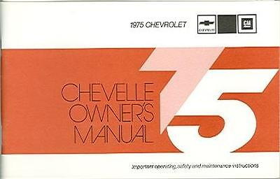 1975 75 Chevelle Owners Manual