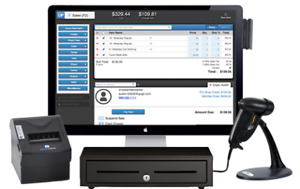 POS system or cash register for retail or clothing store at sale