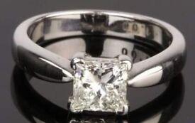 8f0dbf767f733 Genuine Pandora clear April birthstone silver ring Size 54/N | in ...