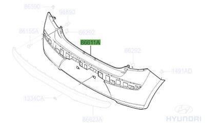 Genuine Hyundai i10 Rear Bumper   866120X000