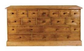 19 drawer chest in pine