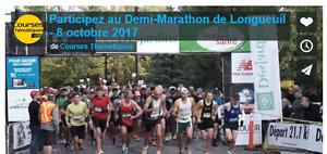 2 Inscriptions course 5 km demi-marathon de Longueuil