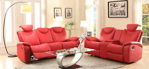Gorgeous Red or Black recliner sofa/home theatre pieces