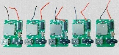 5 Pcs Mp3 Decoder Board 3.7-5v Power 2w Mp3 Amplifier Module Diy
