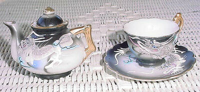 Dragonware Dragon Ware Mini Teapot and cup with saucer Childs size play