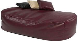 XXX L BEANBAG 16cuf LEATHER BEAN BAG SOFA BED CLARET EBay