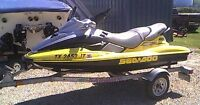 Seadoo GTX 2002 + trailer in excellent condition for sale!