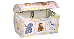 First Impressions Treasure Chest Wood Toy Box