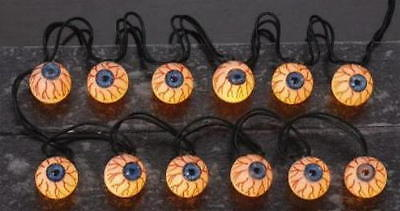 Lemax Spooky Town Halloween Tree Lights 12 Lighted Eyeball String  34947](Spooky Lit Halloween Tree)