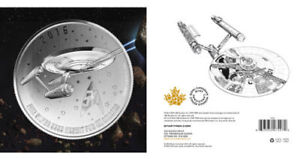 RCM $20 Fine Silver Coin - Star Trek - 50th Anniversary - BEAUTY