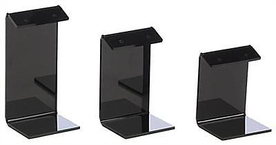 Black Earring Display Stand Jewelry Holder 2 3 4 High Set Of 3 Qty 12