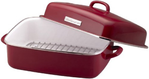 WANTED-Red roast pan with rack--KITCHEN AID