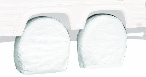 Wheel Covers For Travel Trailer RV Camper Tire Accessories Car Truck Parts White