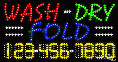 New Wash-dry Fold 32x17x1 Wyour Phone Number Solidflashing Led Sign 25118