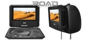 New-Pyle-PDH9-9-Portable-Swivel-TFT-DVD-Player-USB-SD-Input-Car-Headrest-Case