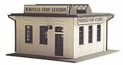 MODEL POWER HO SCALE BUILDING KIT - WHISTLE STOP STATION - NEW 444
