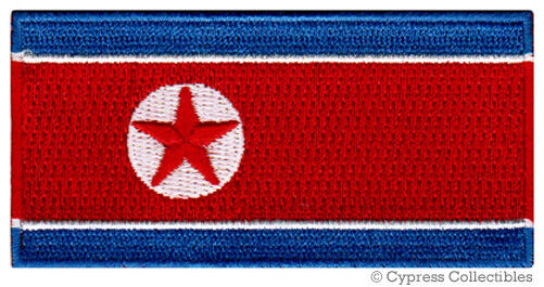 NORTH KOREA FLAG embroidered iron-on PATCH KOREAN DPRK KING JONG UN RARE