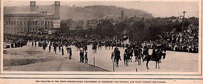 1899 MAGAZINE PHOTO PRINT PENNSYLVANIA 10TH VOLUNTEERS ARMY PITTSBURGH KEECH