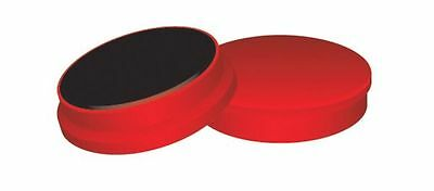 10 x Red Coloured Magnets 25mm Dry Wipe Whiteboard Fridge Disc Plastic Coated