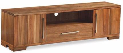 """Hardwood """"Clifford"""" 1 Drawer Large Entertainment Unit with Doors"""