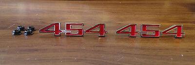 454 Fender Emblem Pair 70 71 72 Chevelle El Camino emblems 73 74 75 Corvette
