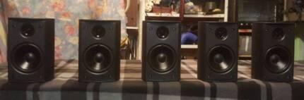 JAMO 5XSURROUND SOUND SPEAKERS/2 WAY EACH/DENMARK