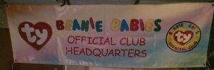 Beanie Babies Official Club Headquarters vinyl banner
