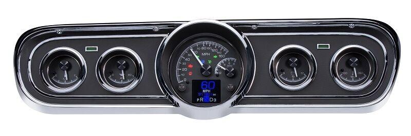 Dakota Digital 65 66 Ford Mustang Customizable Gauges Kit Black HDX-65F-MUS-K