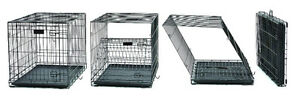 Double Door Folding Dog Crate (42 inch x 28 inch x 30 inch)
