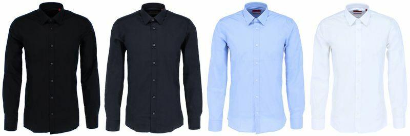 Hugo Boss ELISHA Herren Hemd Extra Slim-Fit Hemd aus Stretch-Baumwolle