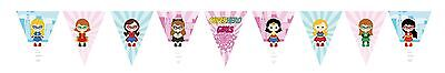 1x Superhero Girls Banner Bunting Flag. Party Supplies Batgirl Lolly Loot Bag ()