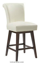 4 RollBack Swivel Kitchen Counter Stool Ivory Leather on SALE