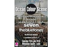 Ocean Colour Scene, Shed Seven & The Bluetones - Saturday 23/07/2016.1 General Admission Ticket.