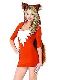 FOX FANCY DRESS OUTFIT SIZE MEDIUM ABOUT A 12 GREAT FOR PARTY / PLAY OR HEN DO