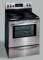 Frigidaire high end stainless steel stove