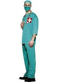 SURGEON / SCRUBS FANCY DRESS OUTFIT SIZE M GREAT FOR CHRISTMAS OR NEW YEARS PARTY
