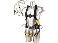 harness with restrant fall good condition x2 and hard hat