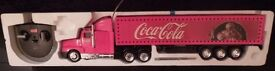 Father Christmas Coca Cola Radio/Remote Control Truck special Lights up!