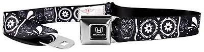 Seatbelt Men Canvas Web Military Honda Civic Accord Logo Skulls Black White