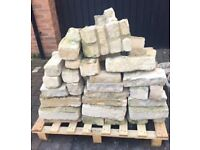 White/Yellow Stone Bricks-Perfect for outside planter or wall